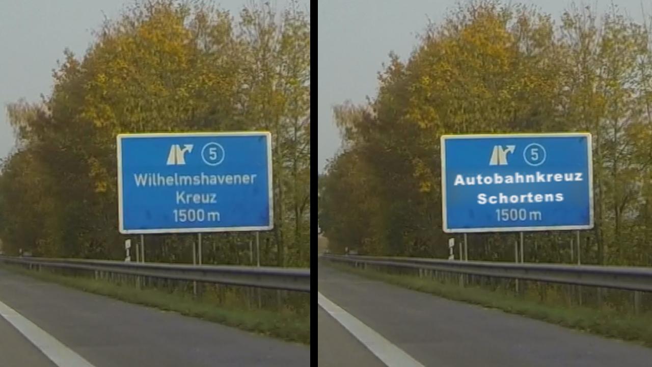 Wie Sie Ihren Namen an die Autobahn bekommen